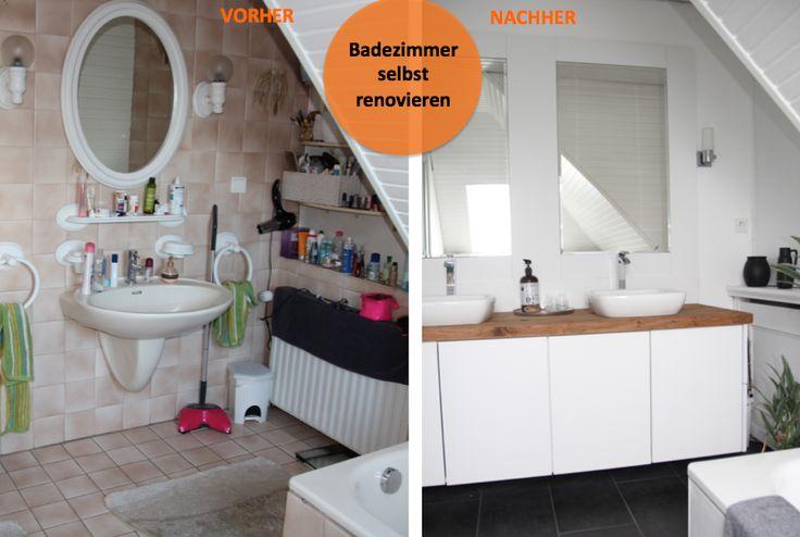 die besten 25 bad vorher nachher ideen auf pinterest. Black Bedroom Furniture Sets. Home Design Ideas