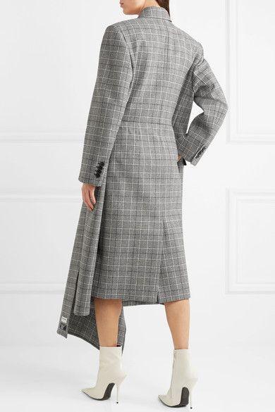 Prince Wool Products Wales Coat Gray Checked Balenciaga Of dvICdq