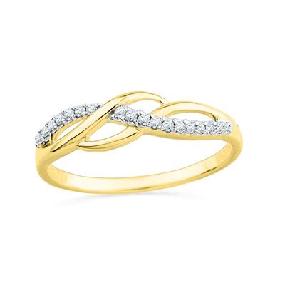 Zales Diamond Accent Sideways Cross Ring in Sterling Silver with Yellow Rhodium ZgczSWmAr