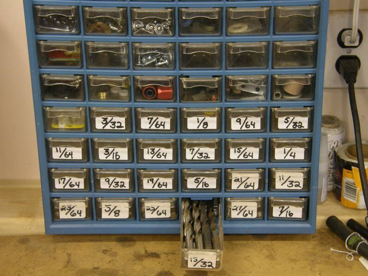 drill bits garage storage ideas pinterest