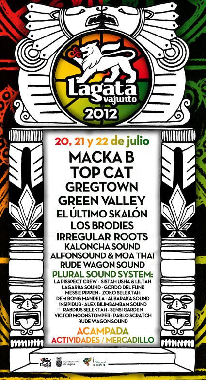 Edición Festival: 2012 :: Lagatavajunto Reggae Festival - 2017