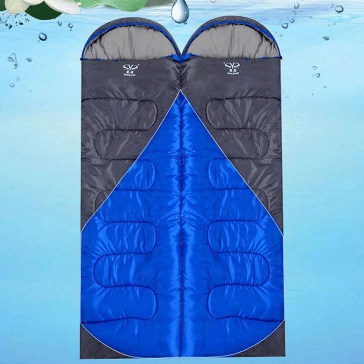 1.8KG Outdoor Camping Ultralight Sleeping Bag Winter Tent Travel Waterproof Splicing Double Sleeping Bags Saco De Dormir #Affiliate