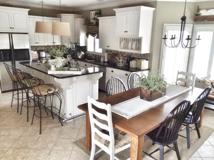 Farmhouse kitchen! The basic layout is what I'm looking at here not the finishes which I don't love