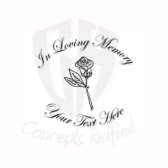 Personalized In Loving Memory Vinyl Decal Multiple Sizes And Vinyl Decals In Loving Memory Loving