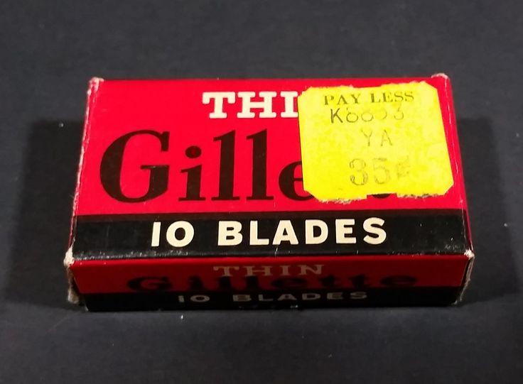 Gillette Thin Disposable Blades Box https://treasurevalleyantiques.com/products/antique-gillette-thin-disposable-blades  #Vintage #Gillette #Thin Disposable #Shaving #Blades #Box #Packaging #Beards #Mustache #Grooming #Hygiene #FacialHair #Barber #Washroom #Bathroom #Washstand #Collectibles #Decor #Decorative #Miniatures #Mini #Decoration