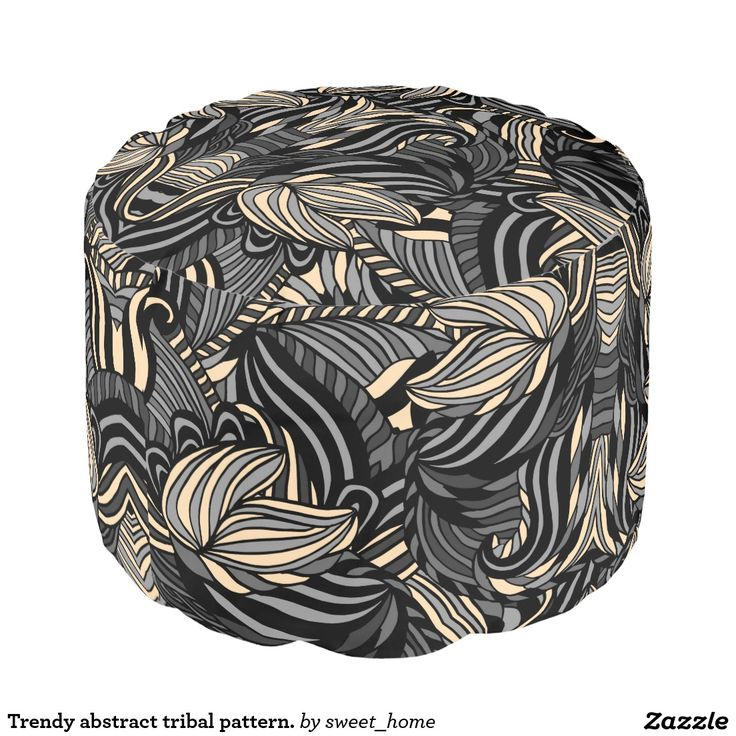 Trendy abstract tribal pattern. pouf  Trendy abstract tribal pattern. For home design and decor. Beautiful home accessories ideas. Luxury elegant style.