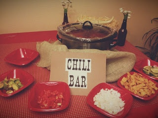 Chilli Bar for a Party. What a great idea!