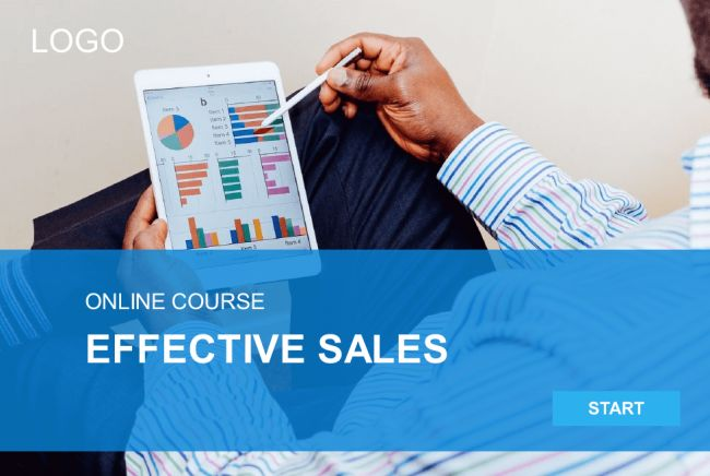 Effective Sales Course Starter Template — Articulate Storyline #eLearning #Storyline #eLearningchips #eLearningInteraction #ArticulateStoryline