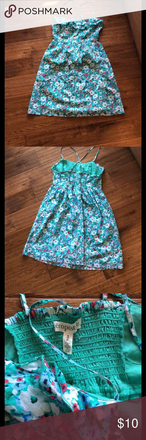 Juniors Aeropostale sun dress size small. Like new Cotton sun dress with lining, adjustable straps. Juniors size small. Perfect for Easter. Aeropostale Dresses Casual