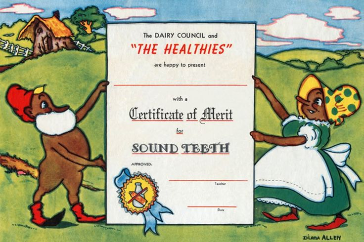 The Healthies - Certificate of Merit for Sound Teeth, by Diana Allen