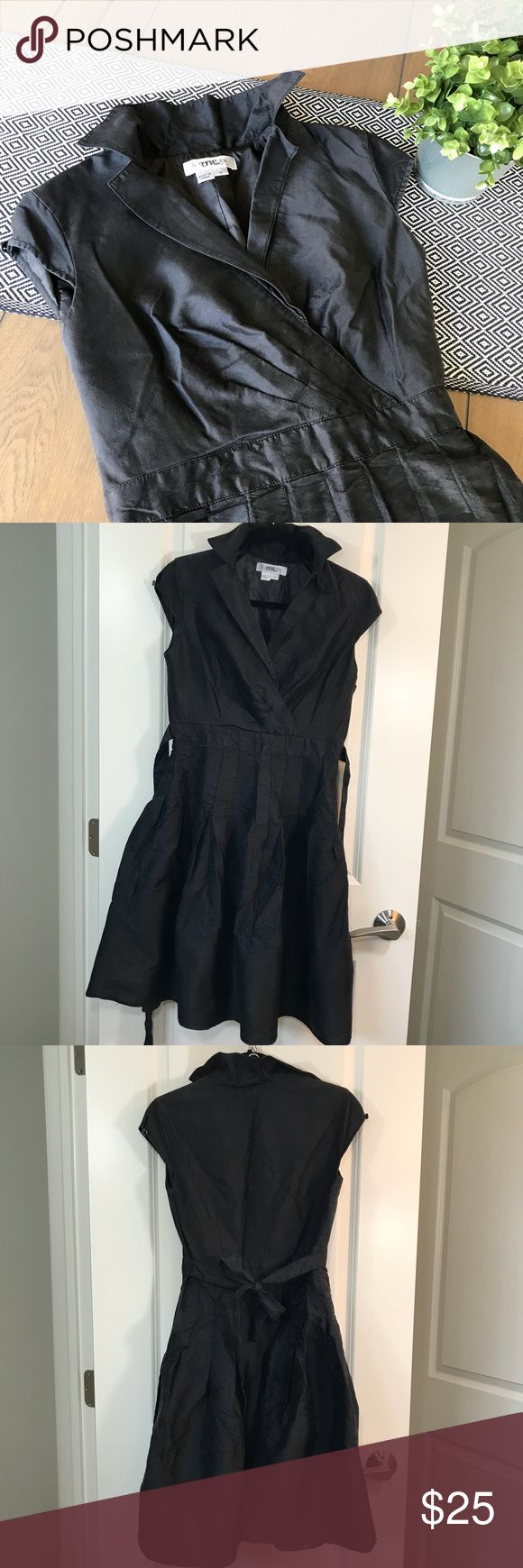 Kay Unger Black Dress Cute black party dress. Zipper on side. Some damage to buttons on cap sleeves. Ties in back. Kay Unger Dresses