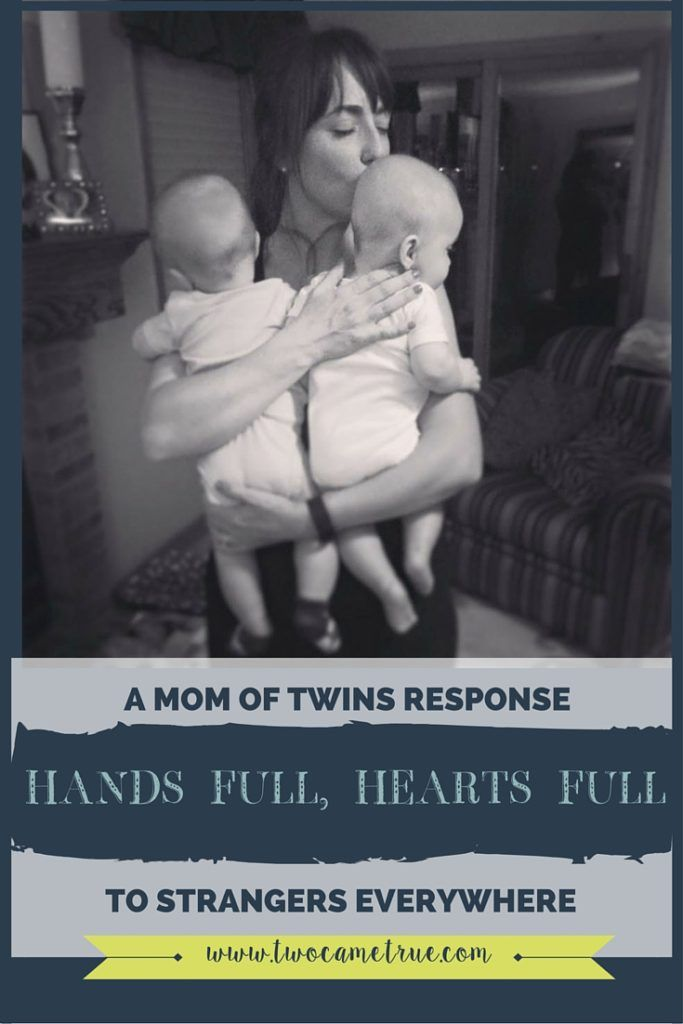 As a mom of twins, you quickly become accustomed to being stopped by a million perfect strangers who are intrigued by the two little angels tagging along beside you. Come read on twin mom's heart warming response to strangers when they inquire about her life with twins!