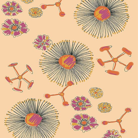 APRICOT FLORAL BY ART AND SOUL MAMMA