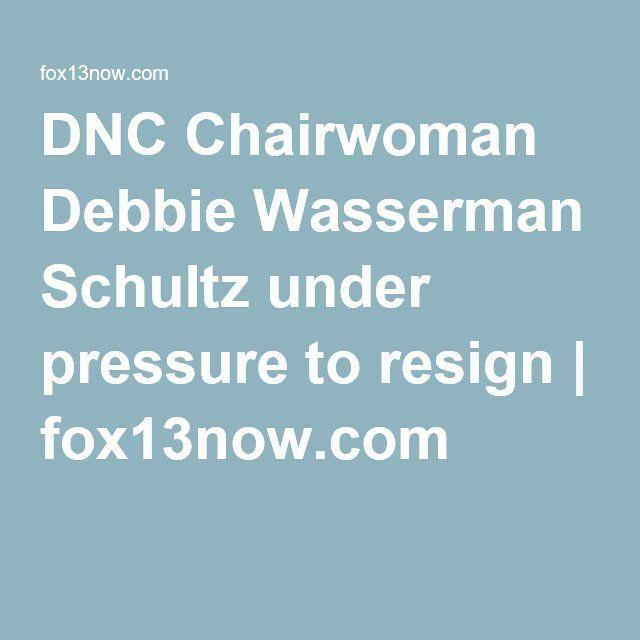 DNC Chairwoman Debbie Wasserman Schultz under pressure to resign | fox13now.com