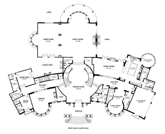 نتيجة بحث الصور عن Bel Air Modern Mansion Floor Plan House Plans Mansion Mansion Floor Plan Home Building Design