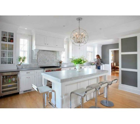 White Painted Wood Floor With Modern Cabinetry: 17 Best Images About White Kitchen Wood Floors On