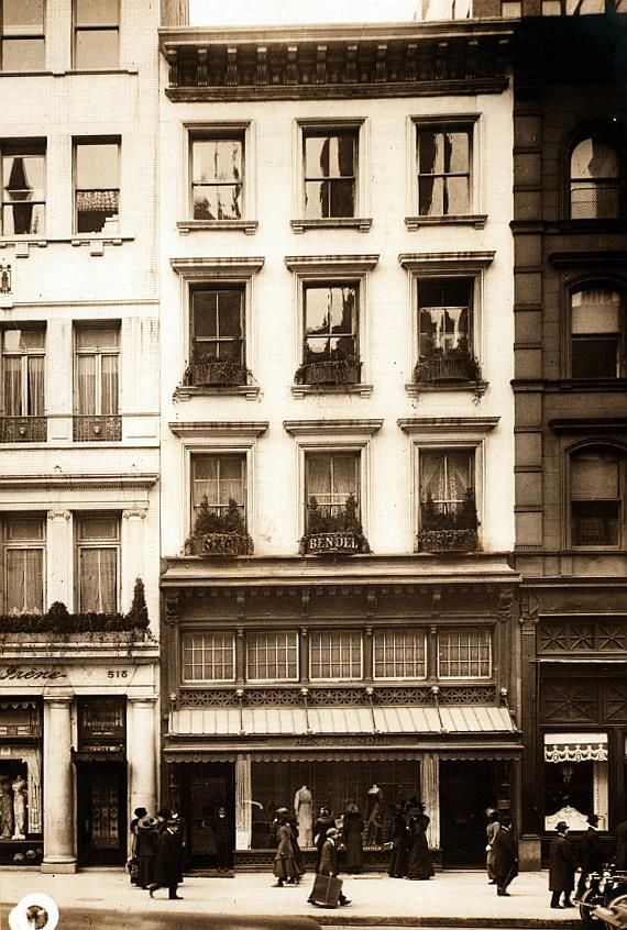 Bendel's, Fifth Ave. between 43d and 44th St., ca. 1910. Via NYPL, no photographer credited. The store moved from this location in 1912 (see ad in Comments).