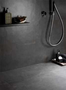 Ceramiche SupergresThe collection is called Smart Town and it is a thorough project in porcelain stoneware that can be used for floors and walls, for residential as well as commercial contexts, indoors and outdoors.  For the shower we used the colour Dark. For more info you can visit our website: http://www.supergres.com/en/11/news/19-smart-town-porcelain-tiles-for-floor-and-walls