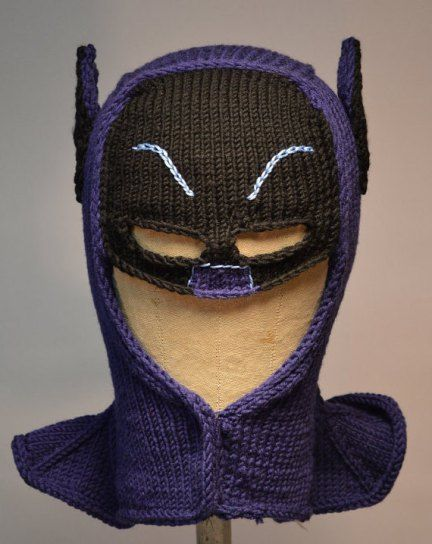 Knitting Pattern Batman Scarf : Batman Cowl Knitting Pattern and more fun knitting ...