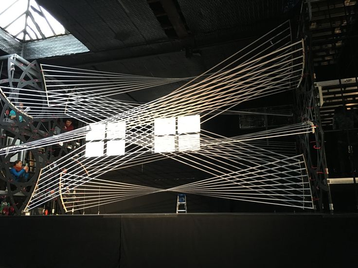 Gabriel Calatrava Creates Interactive String Installation for the 92Y Music Festival in New York