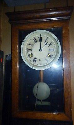 Antique-Vintage-International-Time-Recording-Company-Oak-Time-Clock