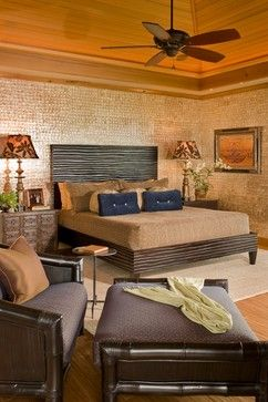 Master Bed tropical bedroom