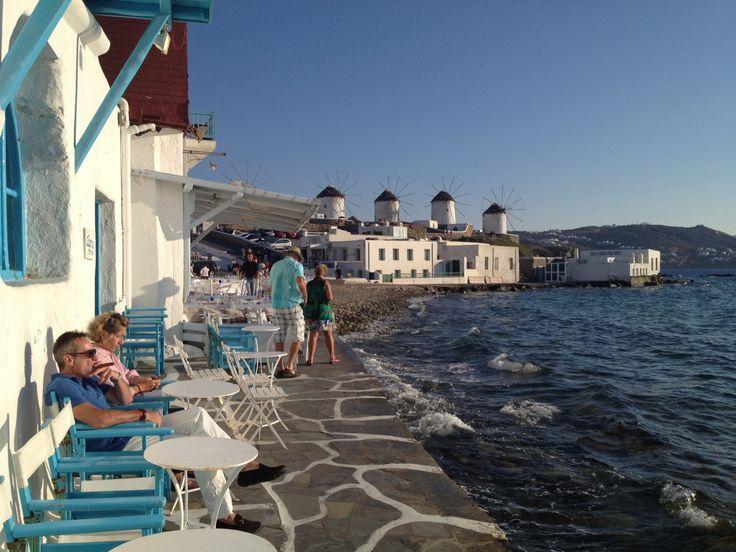 Little Venice of Mykonos (Mökene)    Mykonos, Lesvos, Μύκονος, Mökene, Mytillini, Athens, Tyre, Santorini, Oia, Fira, Greece, Grek, Summer, Holiday via Tanerozcelik.com