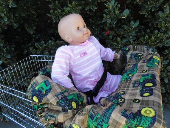 John Deere  shopping cart cover/ high chair by littlestitches59, $38.00