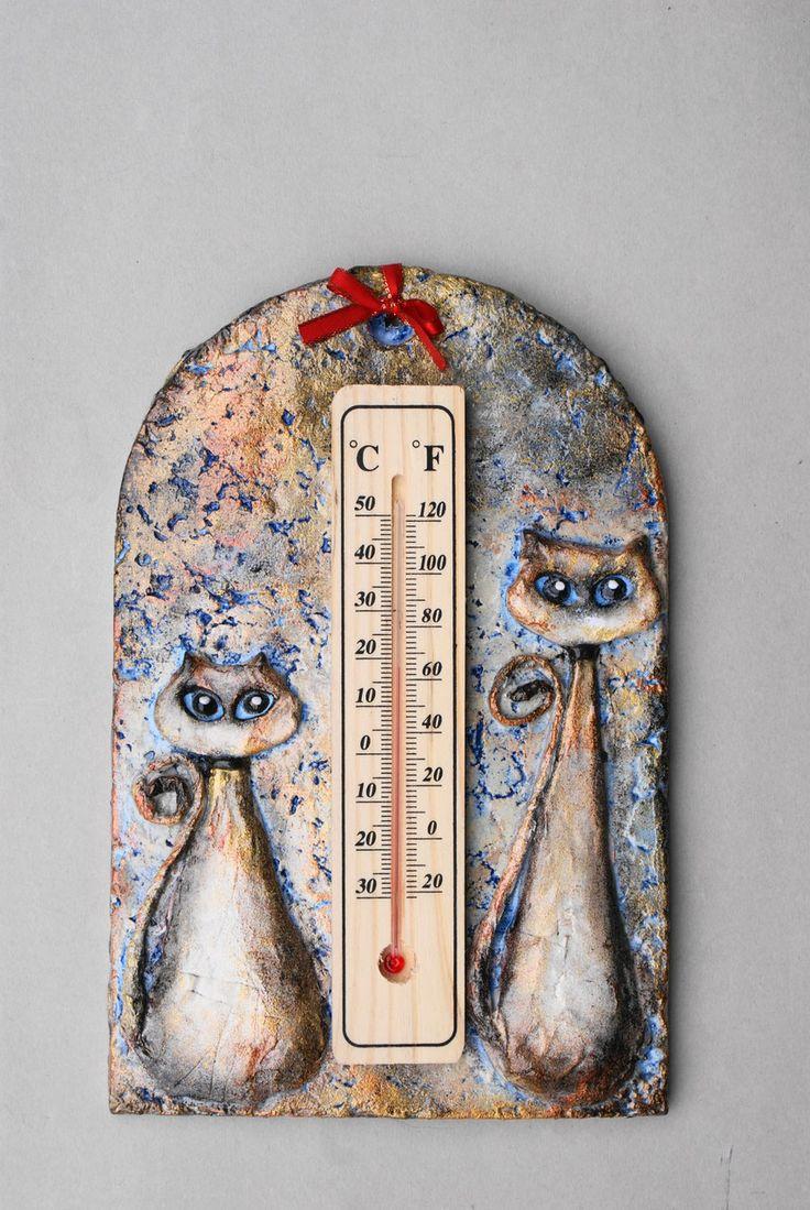 Termometro decorativo con gatti