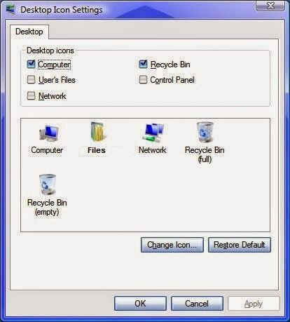 how to delete recycle bin icon from desktop windows 7