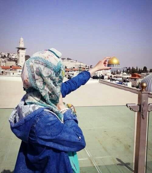Al-Aqsa in the back