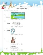 Classify And Solids Liquid Or Gas Worksheet For 3rd Grade Science Worksheets Science Activities Worksheets