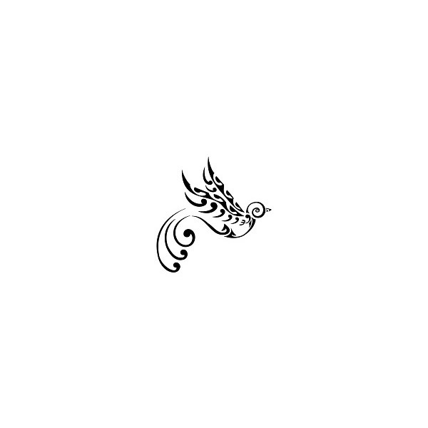 TATTOO TRIBES - Shape your dreams, Tattoos and their meaning - swallow, bird, te manaia, koru, waves, freedom, voyage, return, protection, prosperity, wealth, new beginning, change, transformation found on Polyvore