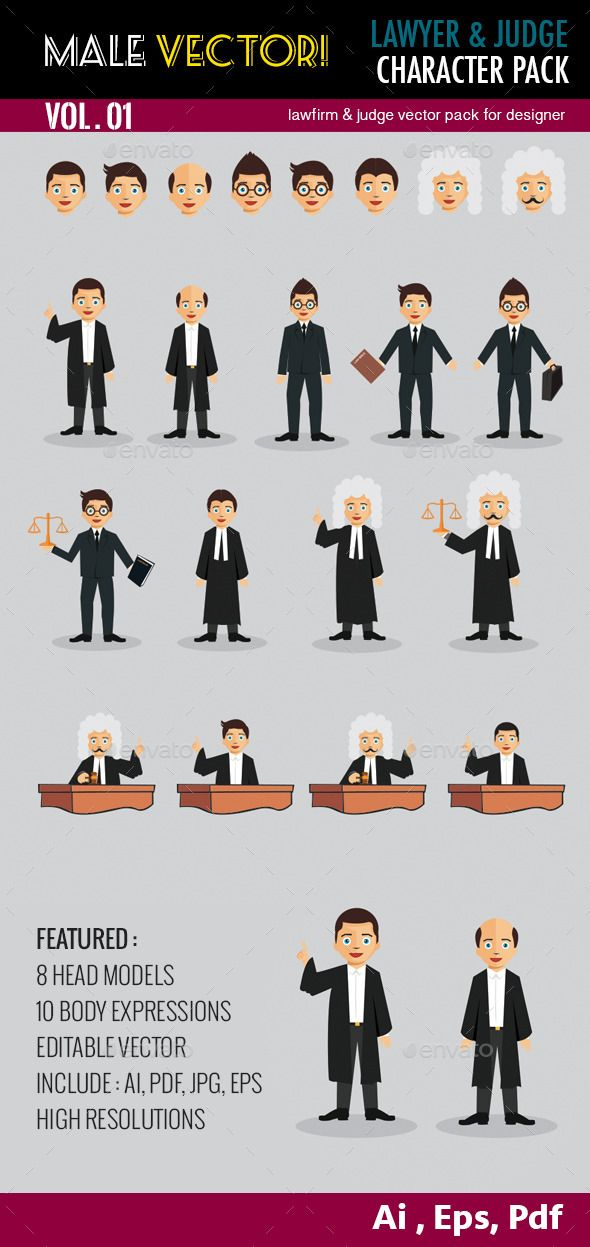 Law & Firm Vector Pack Vol 1