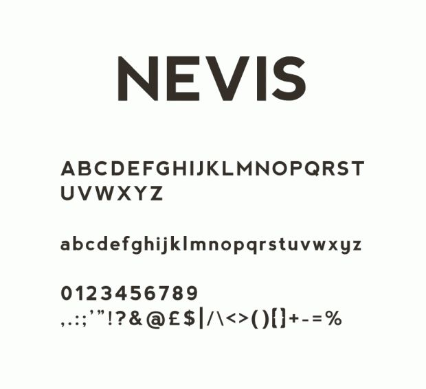 nevis 620x567 Top 50 Best Free Fonts