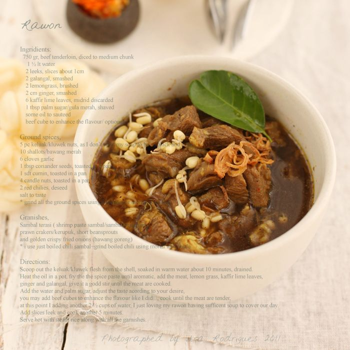 Traditional East-Java beef soup ~ Rawon from Cooking Tackle