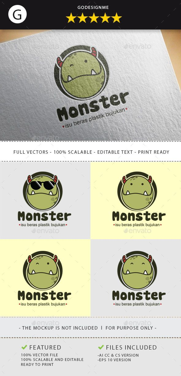 Monster Logo Template #design #logotype Download: http://graphicriver.net/item/monster/11578598?ref=ksioks