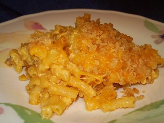 This recipe came from a Kraft newsletter. Its very simple, takes the blue box of mac and cheese and adds just a few ingredients and steps to make it taste a bit more homemade.