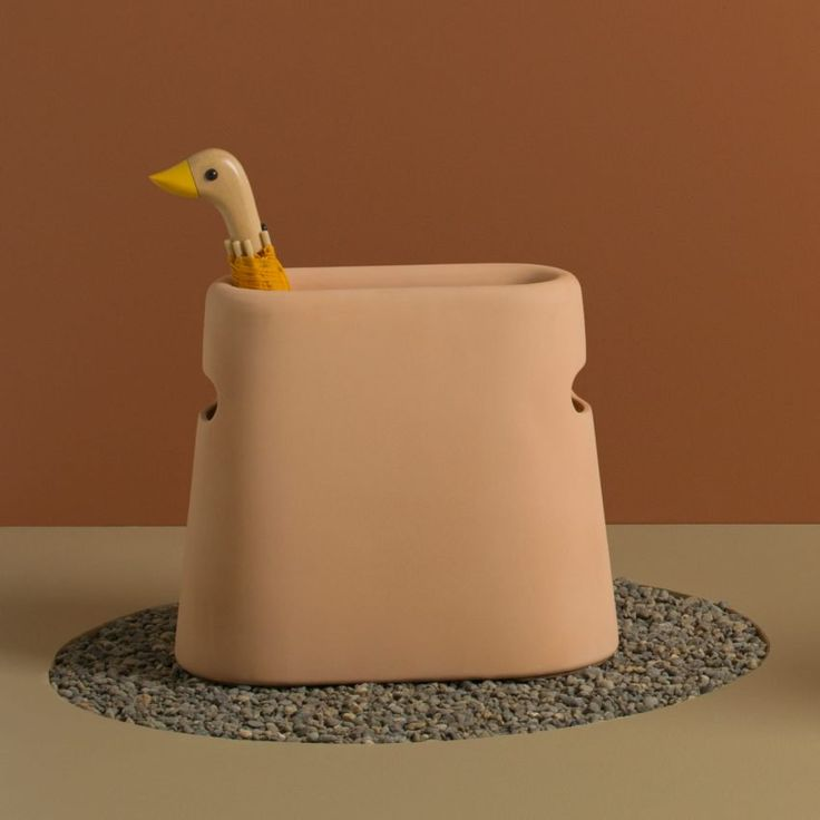 Good Thing's expanded range includes a terracotta clay umbrella stand by founder Jamie Wolfond