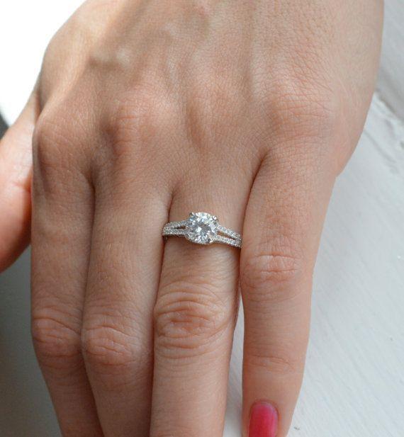 Split Shank Engagement Ring  Prong Set Engagement by barargent, $63.00
