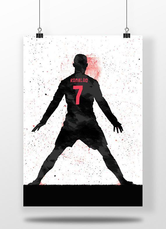 Cristiano Ronaldo Real Madrid Football Soccer Poster Print