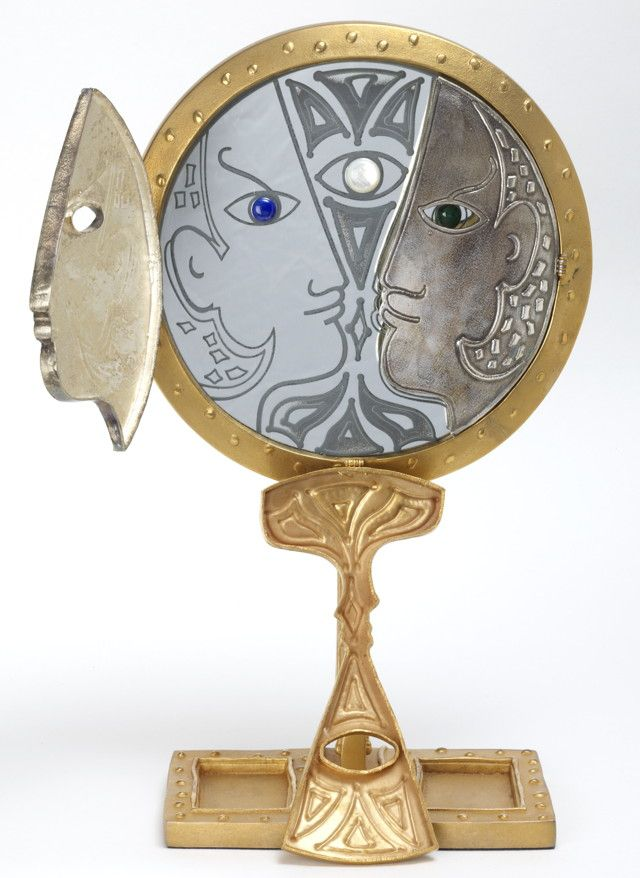 Art | Metal Sculpture | Jean Cocteau: The Man in the Mirror  (BB)