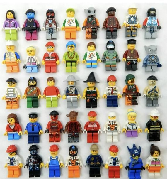 LEGO x 10 Black Hand NEW for minifig minifigure