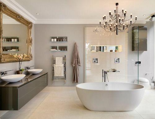 Spiegel Voor Badkamer : Grote barok spiegel in badkamer barokspiegel