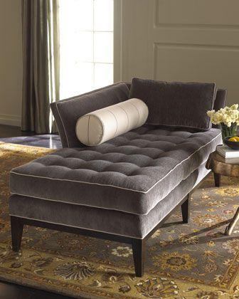 Vanguard Gray Chaise - Neiman Marcus