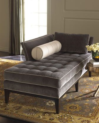 Vanguard Gray Chaise - Neiman Marcus