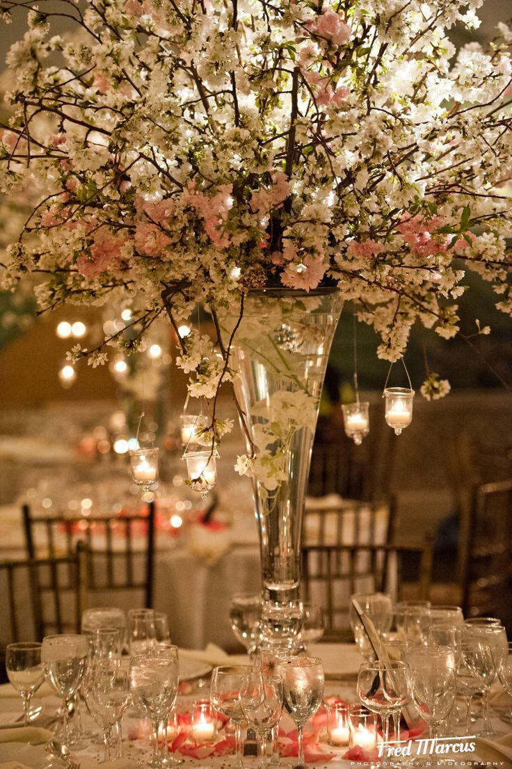 cherry blossom centerpieces   Botanical Gardens, Bronx, NY - Cherry blossom centerpiece