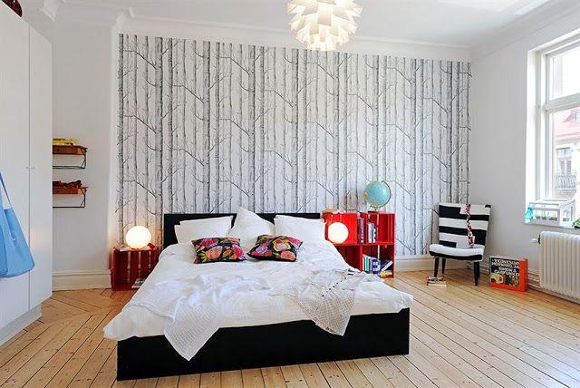 555 best Papier peint  Chambre images on Pinterest  Flats Bedrooms and Bedroom