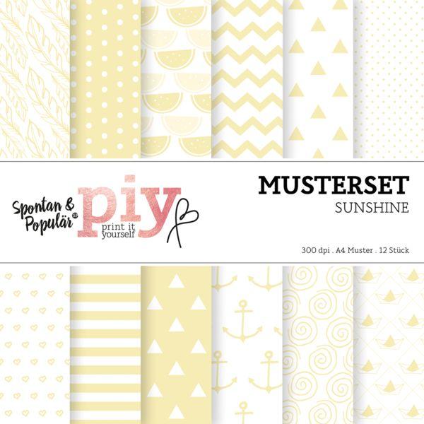 Geschenkpapier - 12 Musterpapiere / Printable A4 - ein Designerstück von sppiy bei DaWanda