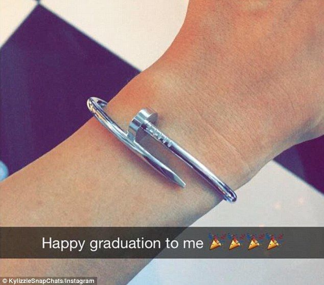Cool presents: Kylie shared some of her new presents on Snapchat including a Cartier nail ...